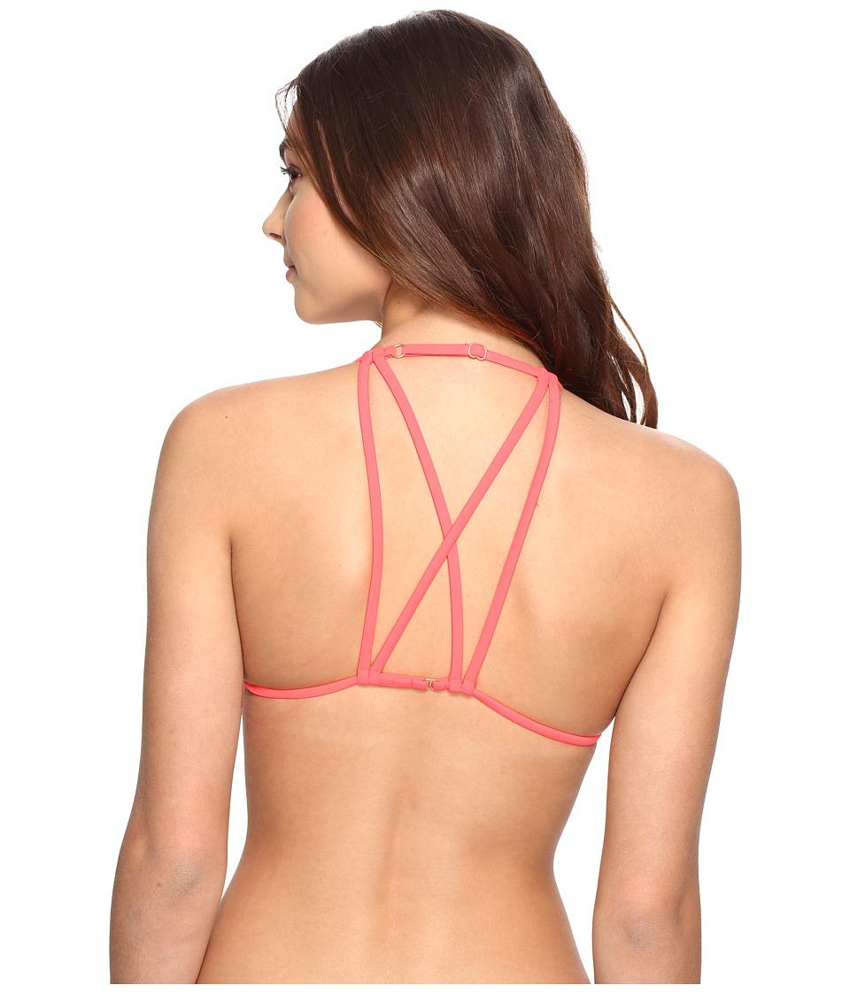 Billabong - Sol Searcher Strappy Triangle Bikini Top (Horizon Red) Women's Swimwear