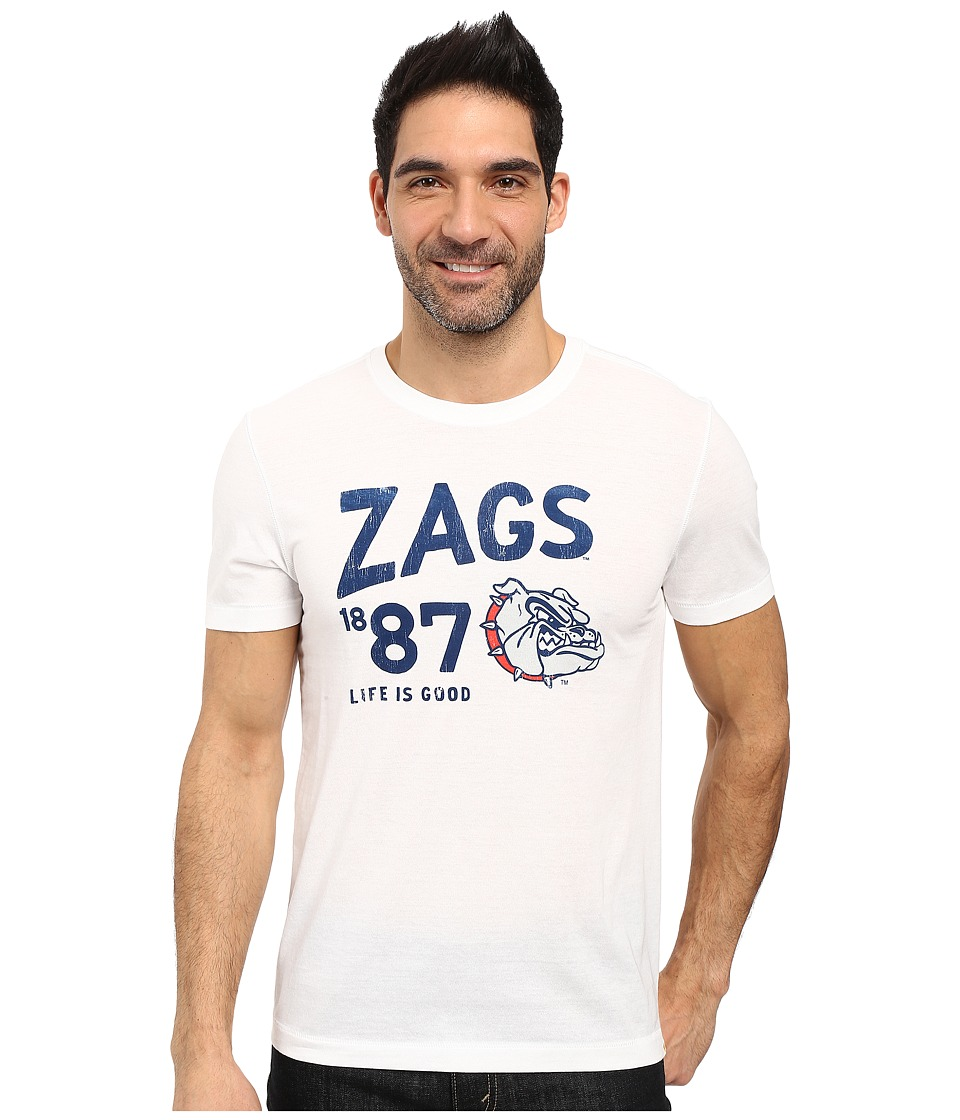 Life is good - Zags Short Sleeve Tee (White) Men's T Shirt