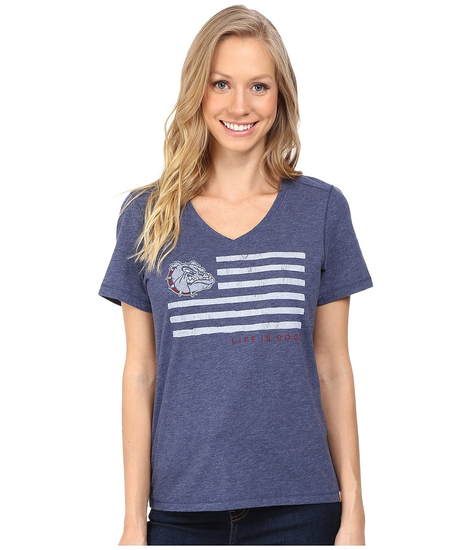 Life is good Georgia Flag Cool Vee (Darkest Blue) Women
