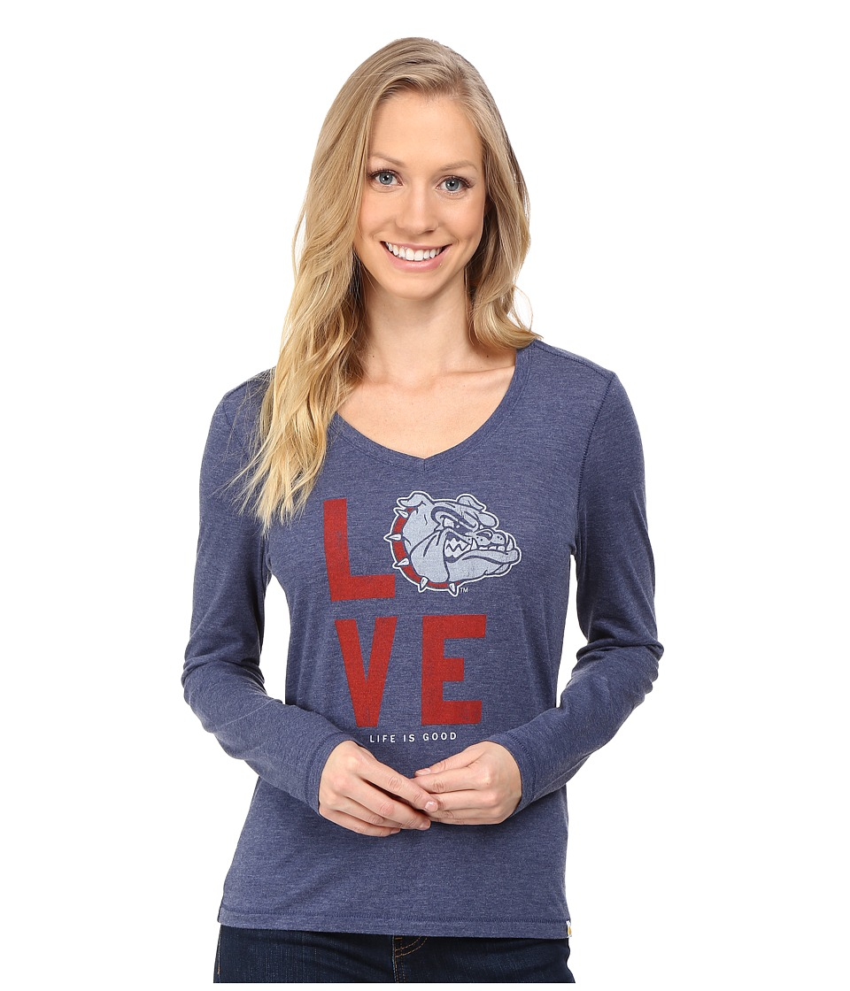Life is good - Love Long Sleeve Tee (Darkest Blue) Women's T Shirt