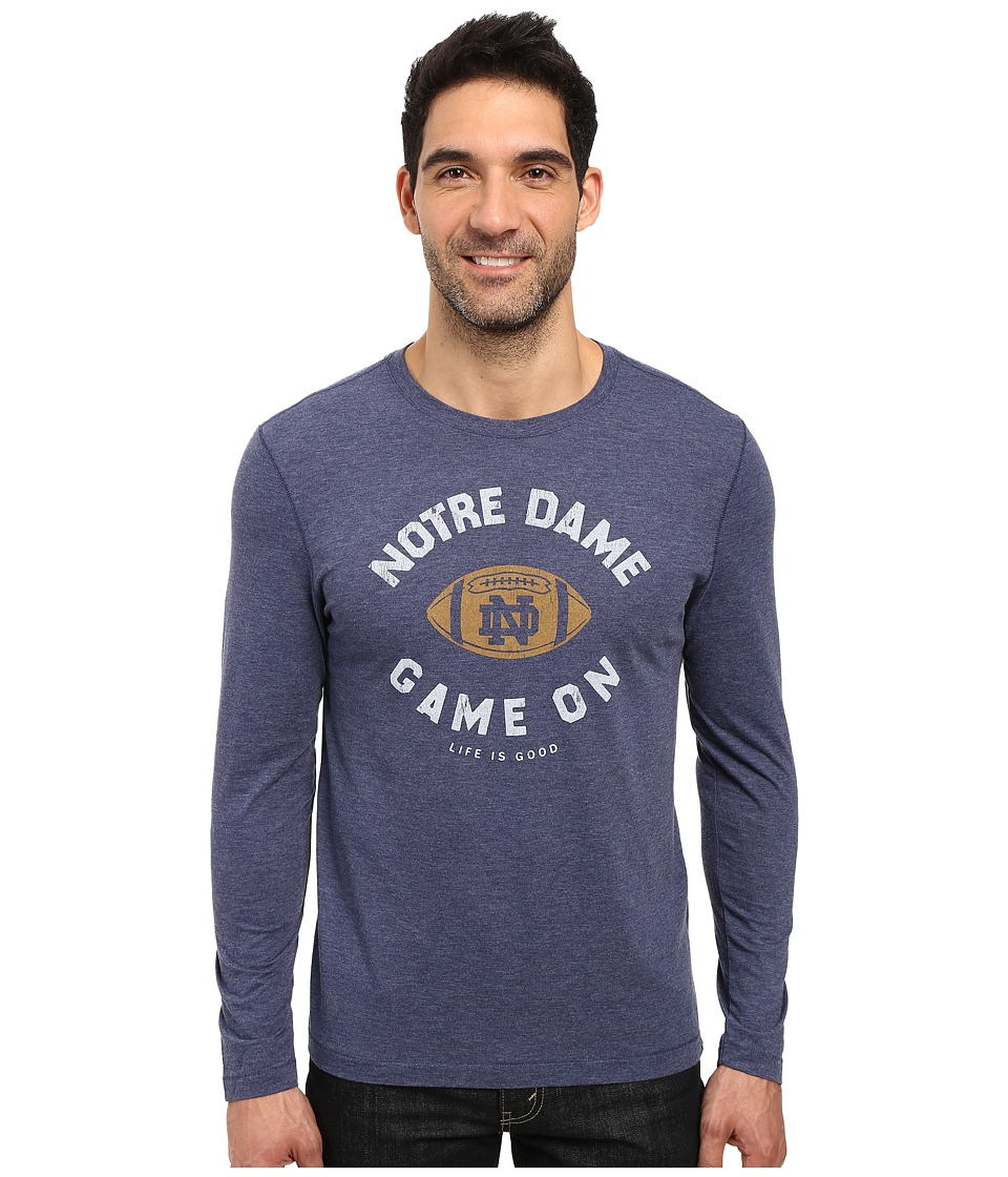 Life is good - Game On Long Sleeve Tee (Darkest Blue) Men's T Shirt
