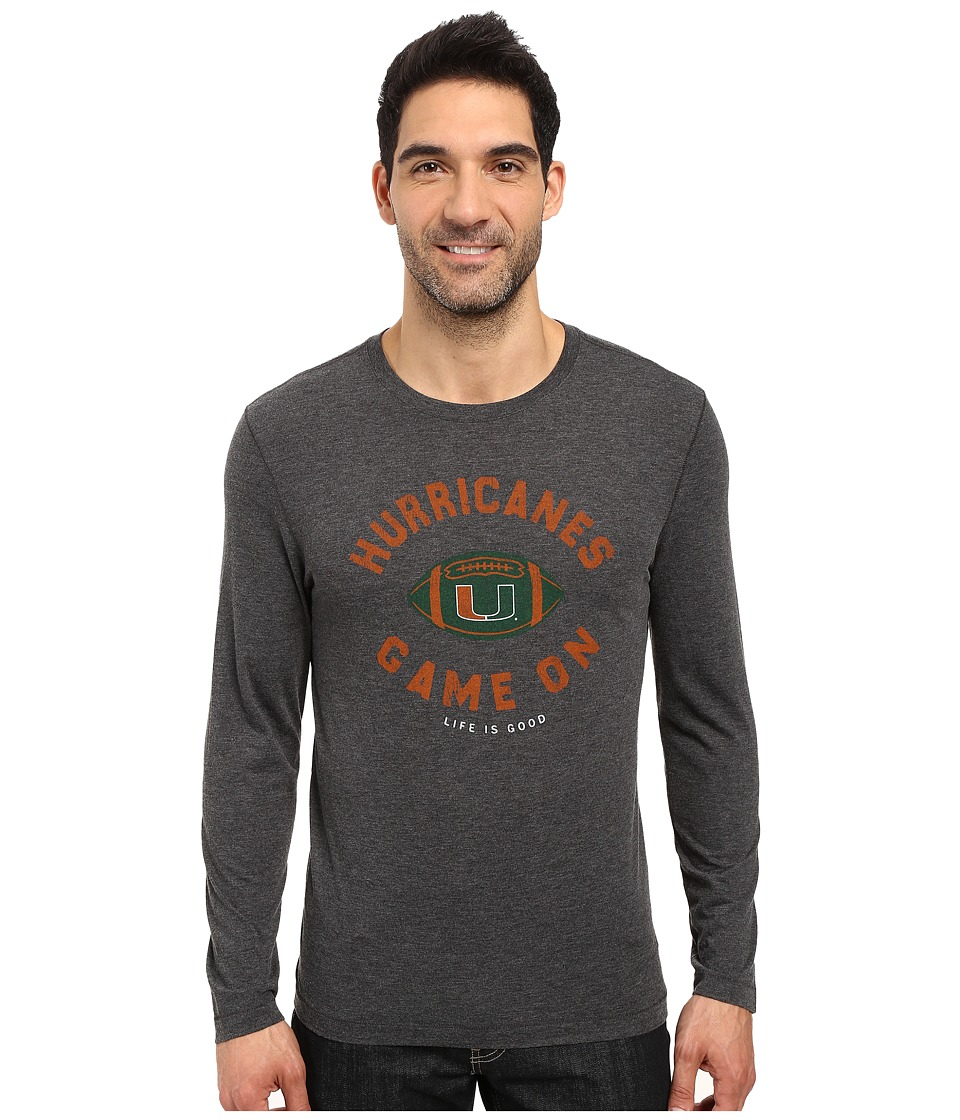 Life is good - Hurricane Long Sleeve Tee (Black) Men's T Shirt