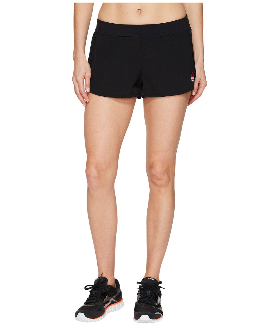 Reebok - CrossFit Knit Woven Shorts (Black) Women's Shorts