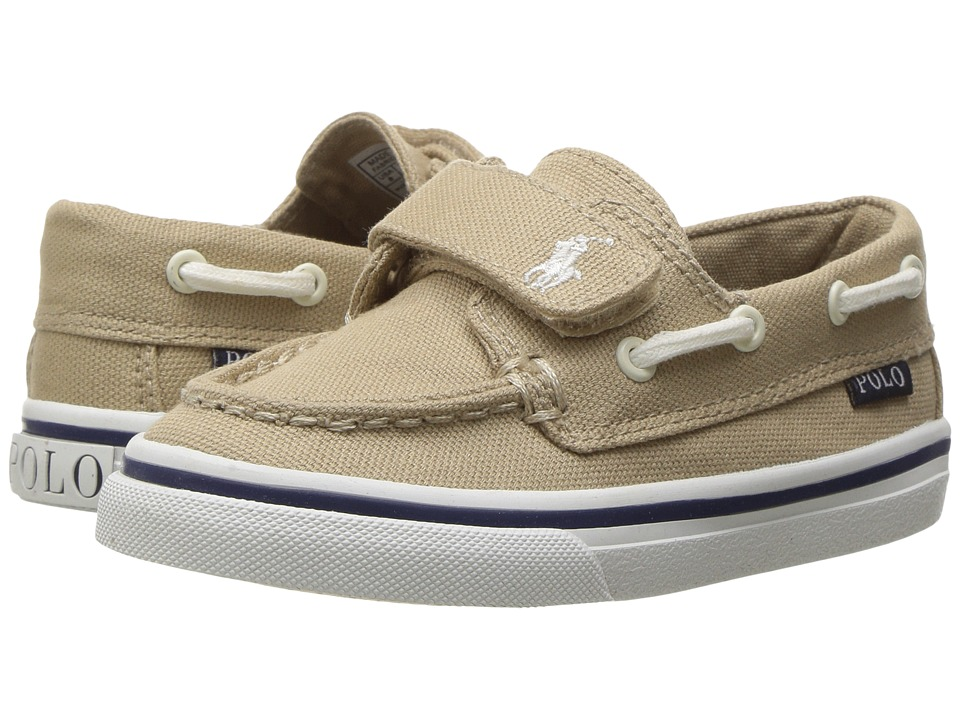 Polo Ralph Lauren Kids - Batten EZ (Toddler) (Khaki Canvas/White PP) Kid's Shoes