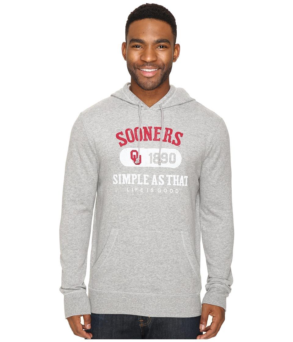 Life is good - Sooners Hoodie (Heather Grey) Men's Sweatshirt