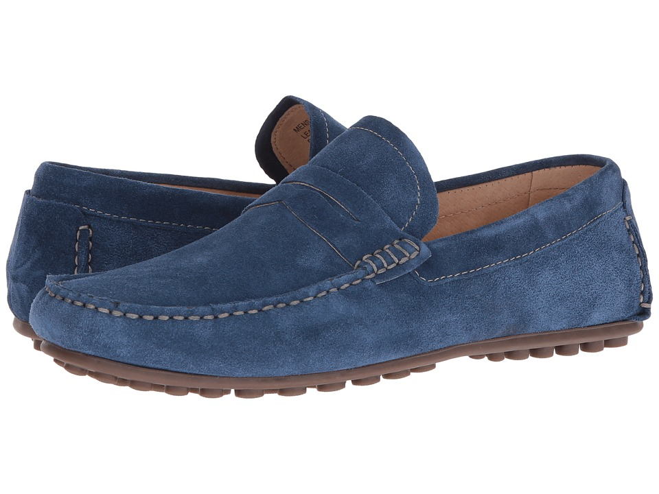 Florsheim - Denison Penny Driver (Blue Suede) Men's Slip on Shoes
