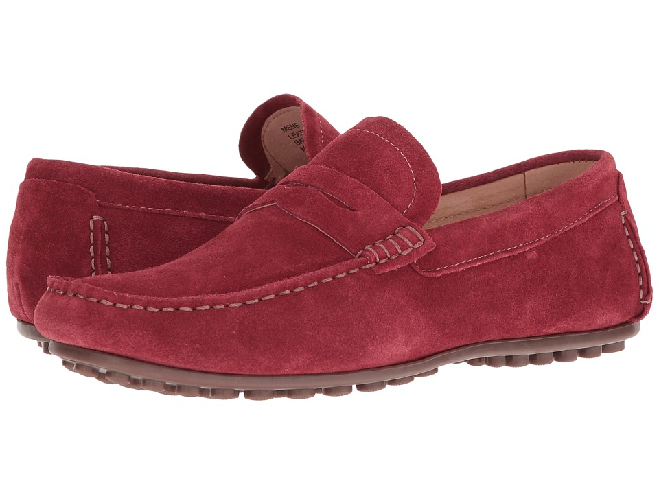 Florsheim - Denison Penny Driver (Red Suede) Men's Slip on Shoes