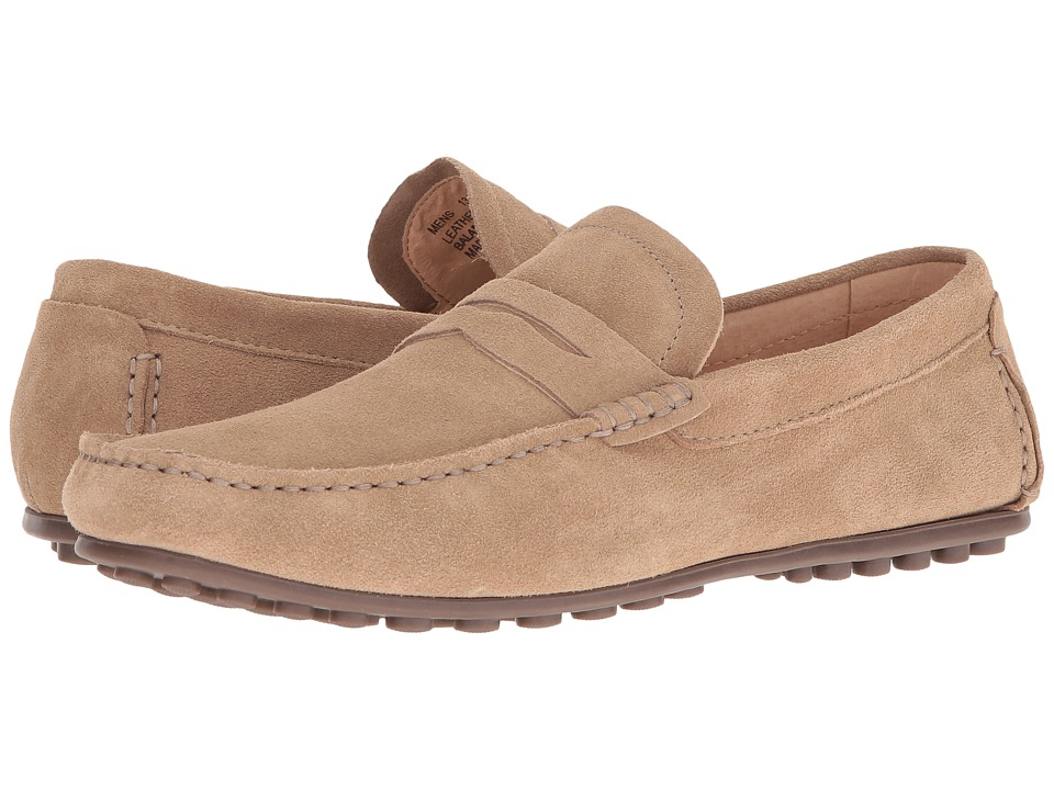 Florsheim - Denison Penny Driver (Sand Suede) Men's Slip on Shoes
