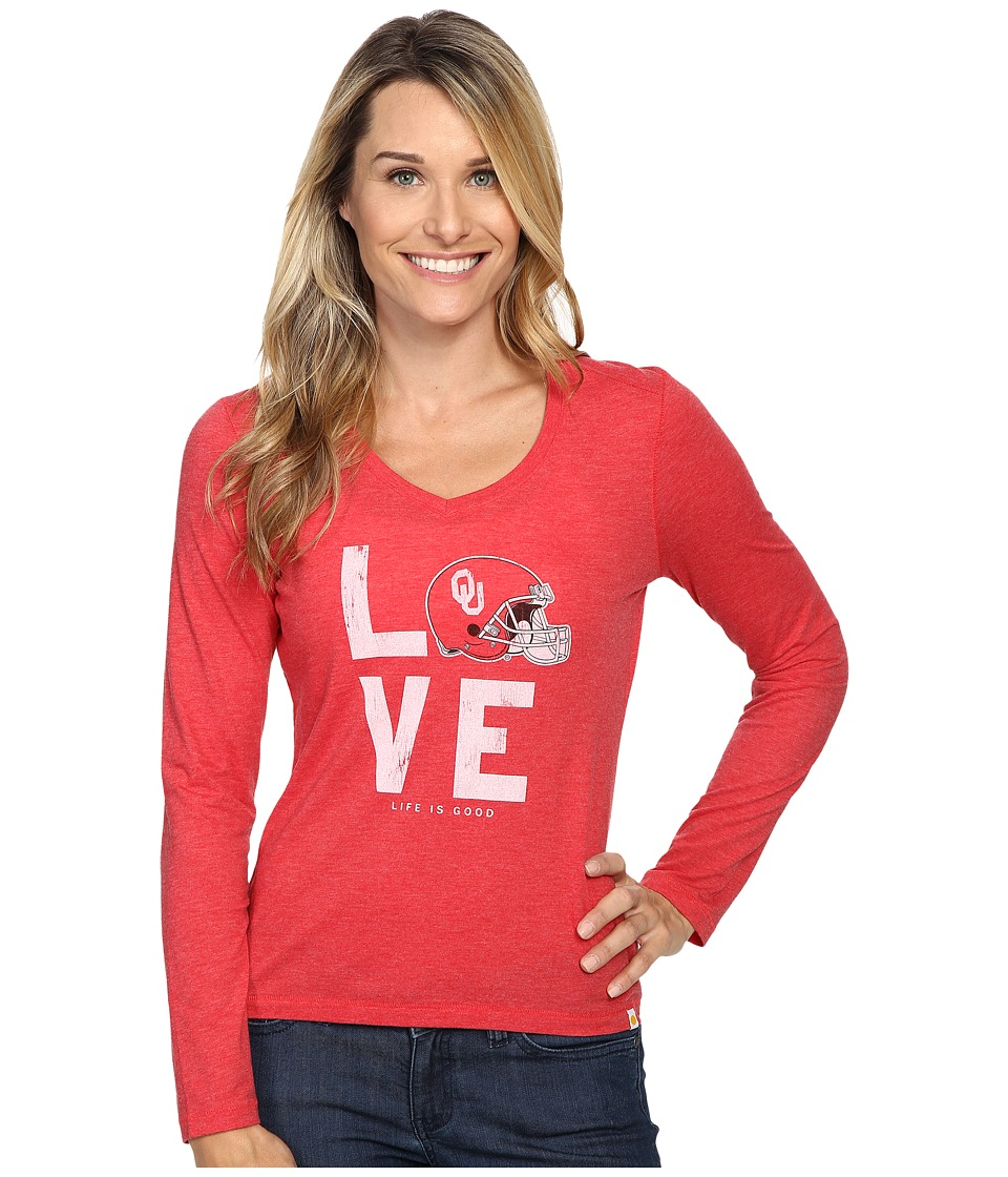 Life is Good Love Long Sleeve Tee (Red) Women