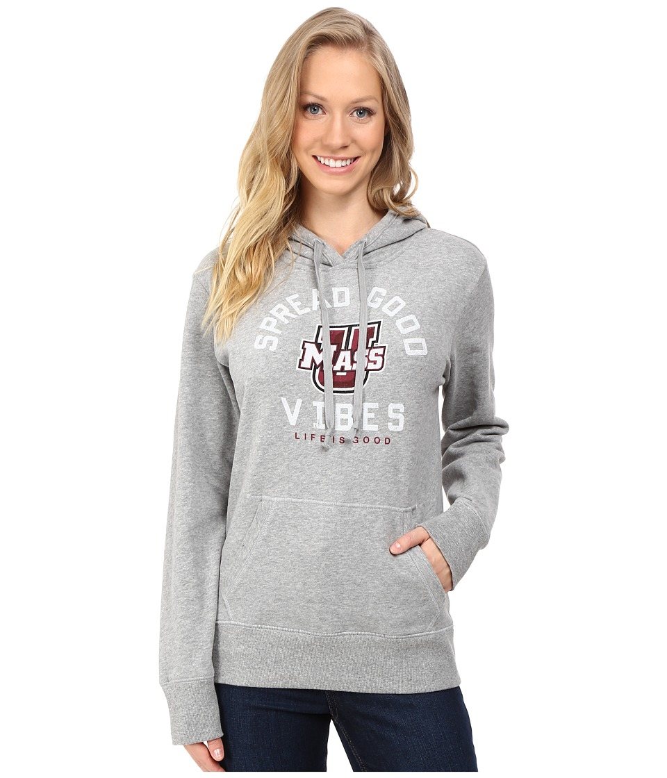 Life is good - SGV Hoodie (Heather Grey 7) Women's Sweatshirt