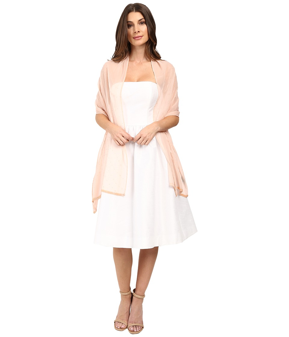 Betsey Johnson - Cross My Heart Beaded Wrap (Blush) Women's Clothing