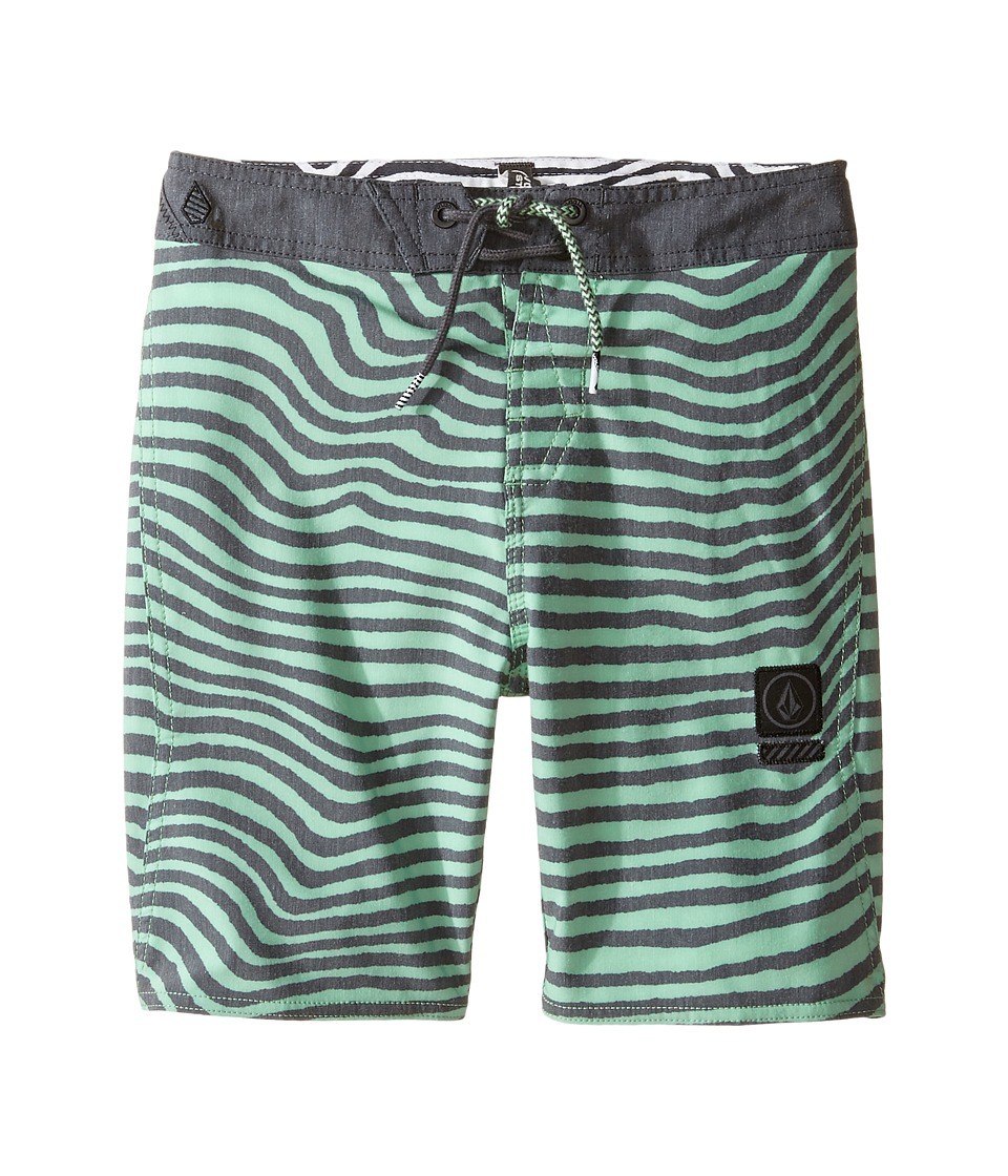 Volcom Kids - Mag Vibes Slinger Boardshorts (Toddler/Little Kids) (Poison Green) Boy's Swimwear