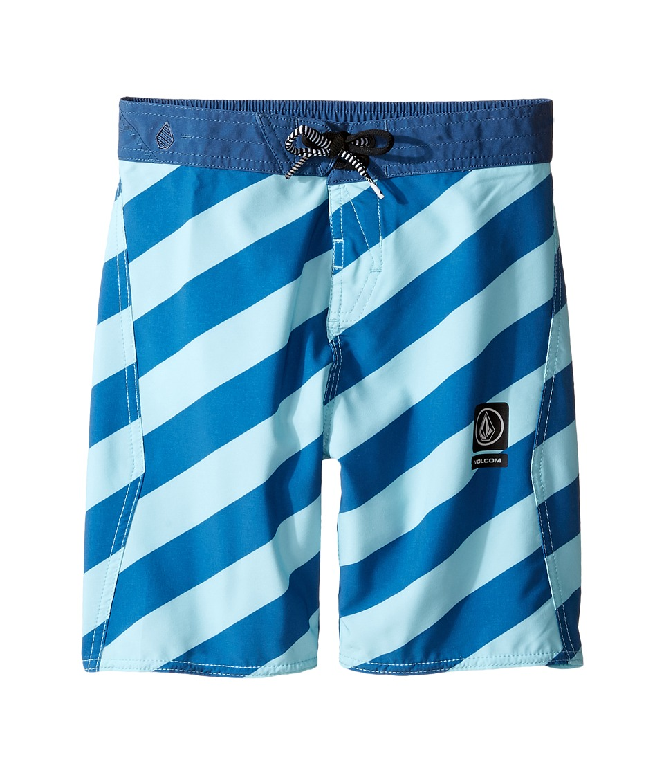 Volcom Kids - Stripey Jammer Boardshorts (Toddler/Little Kids) (Deep Water) Boy's Swimwear