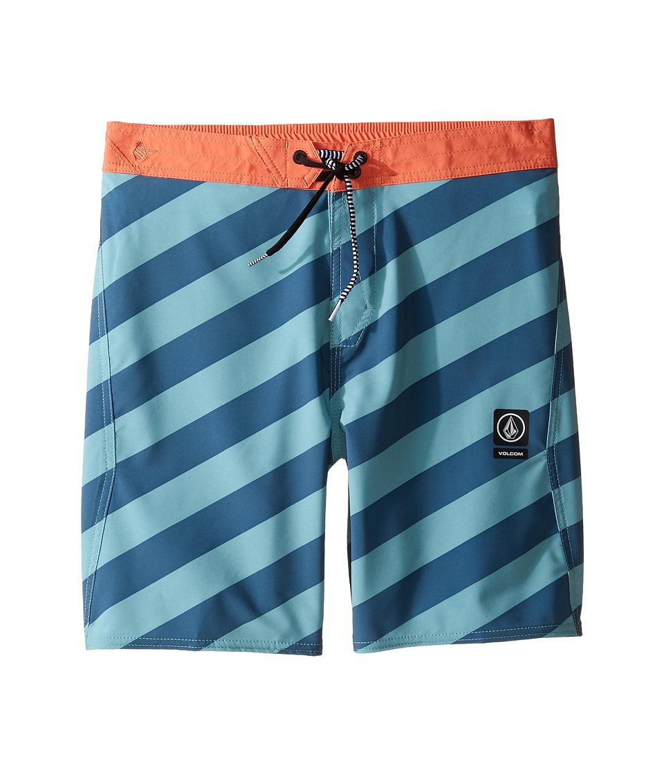 Volcom Kids Stripey Jammer Boardshorts (Little Kids) (Sea Blue) Boy