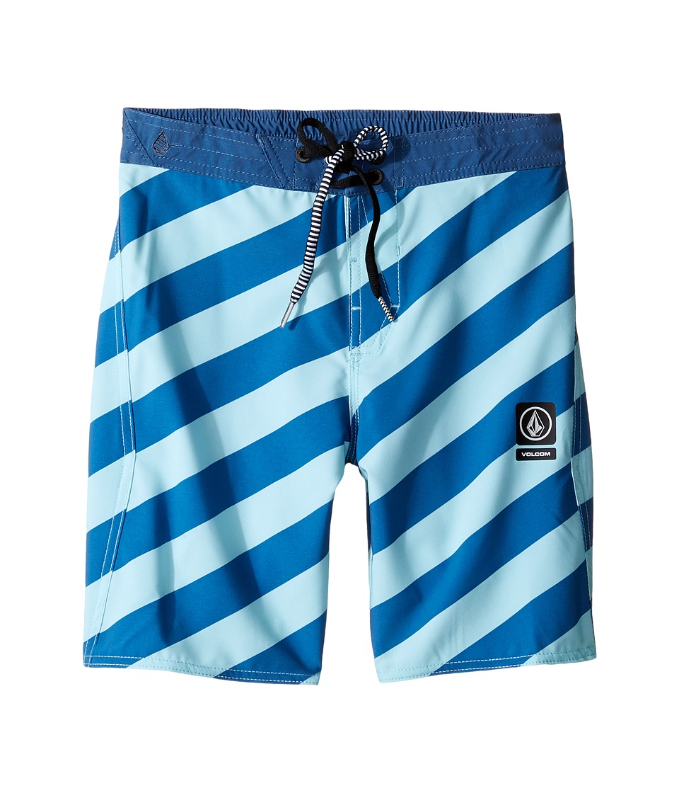 Volcom Kids - Stripey Jammer Boardshorts (Little Kids) (Deep Water) Boy's Swimwear
