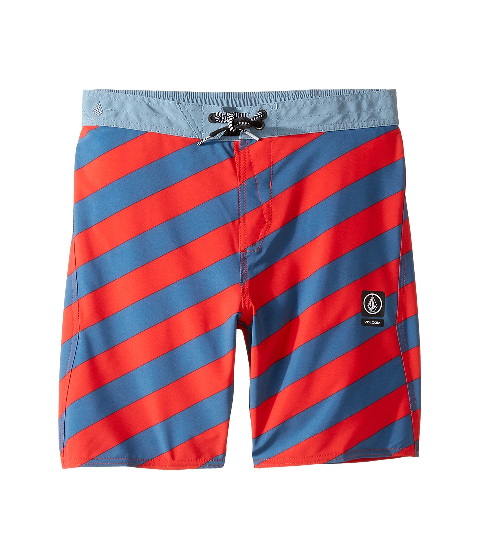 Volcom Kids - Stripey Jammer Boardshorts (Little Kids) (Toffee) Boy's Swimwear