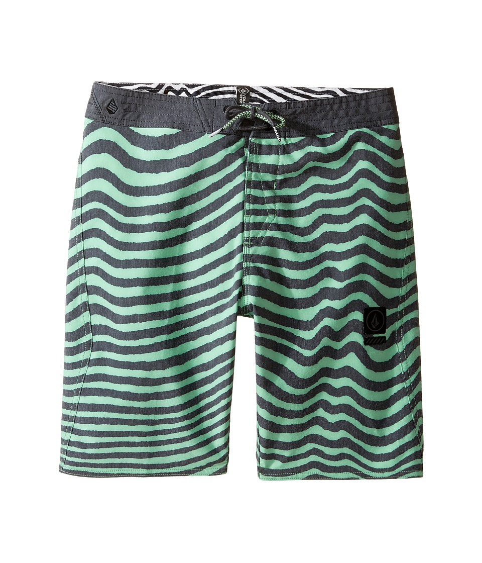 Volcom Kids - Mag Vibes Slinger Boardshorts (Big Kids) (Poison Green) Boy's Swimwear