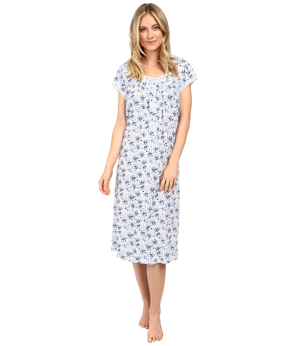 Eileen West - Waltz Nightgown (Cream Garden Floral) Women's Pajama