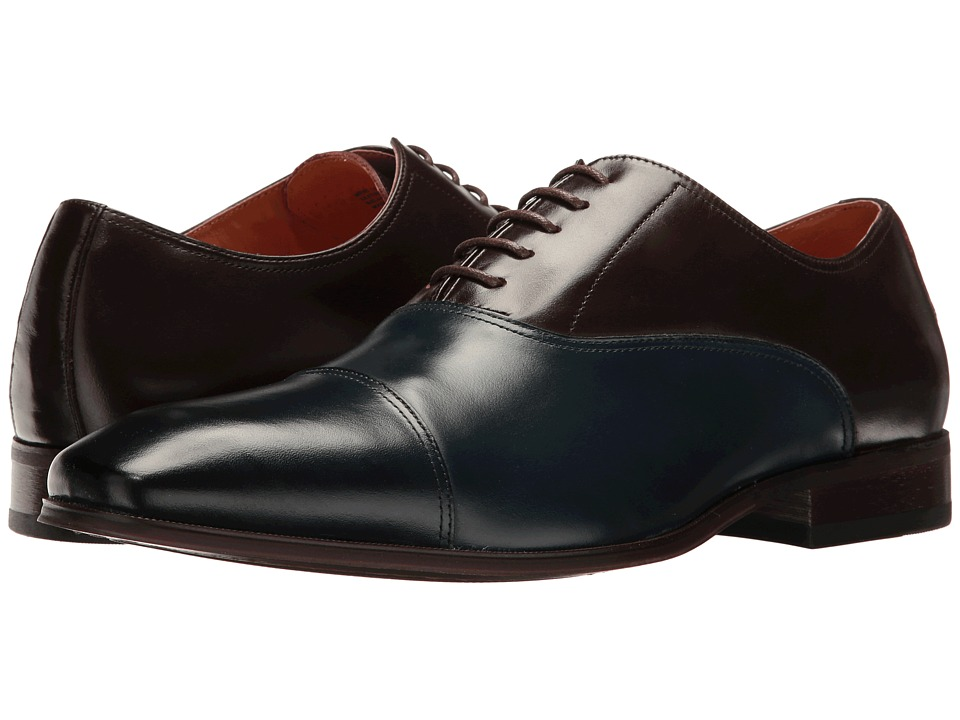 Florsheim - Corbetta Cap Toe Oxford (Navy/Brown Smooth) Men's Lace up casual Shoes