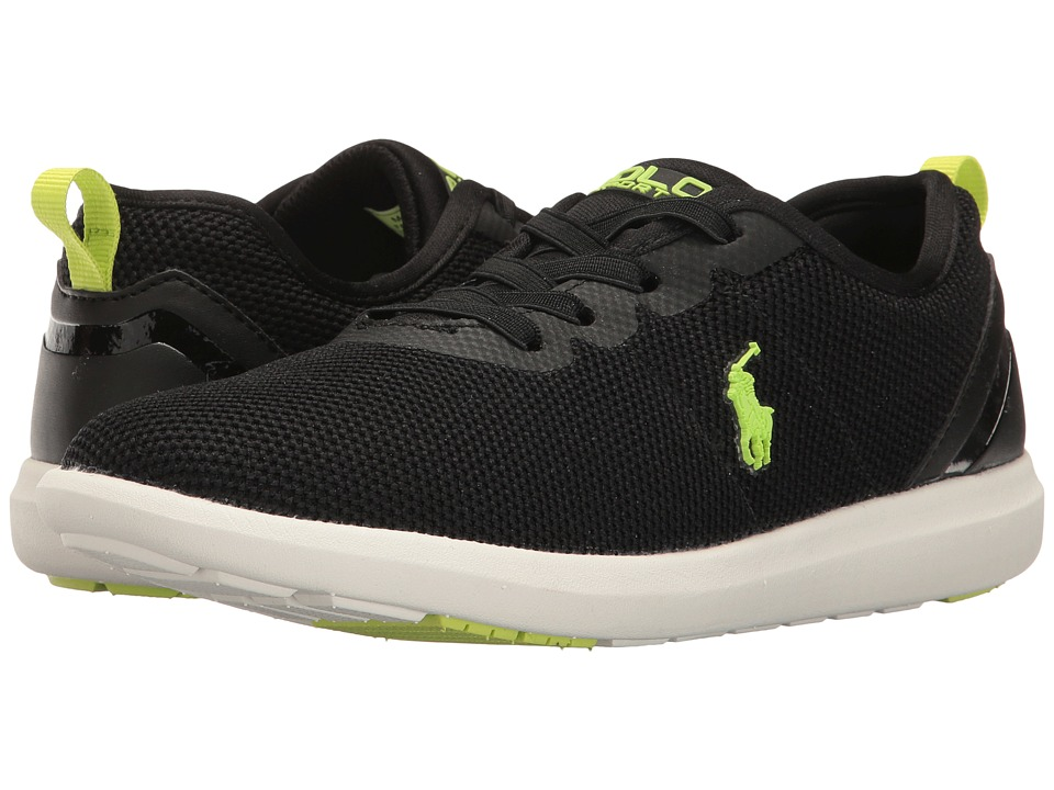 Polo Ralph Lauren Kids - Kasey Gore (Big Kid) (Black Mesh/Lime Green) Kid's Shoes