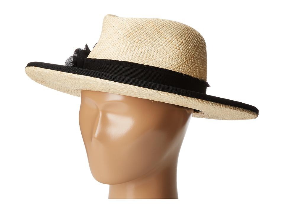 The Kooples - Laurent Straw Hat (Beige) Traditional Hats