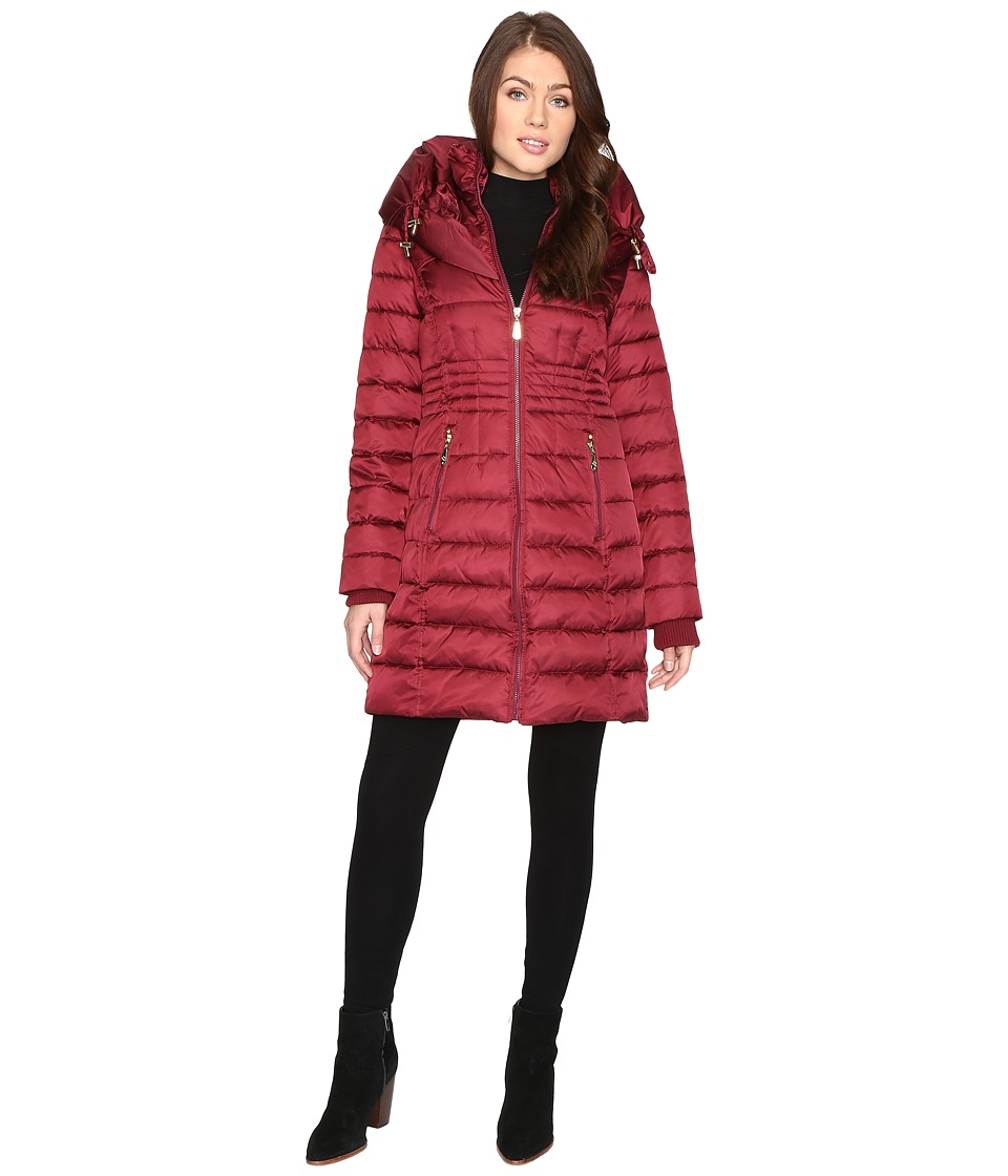 Betsey Johnson - Quilted Zip Puffer (Ruby) Women's Coat