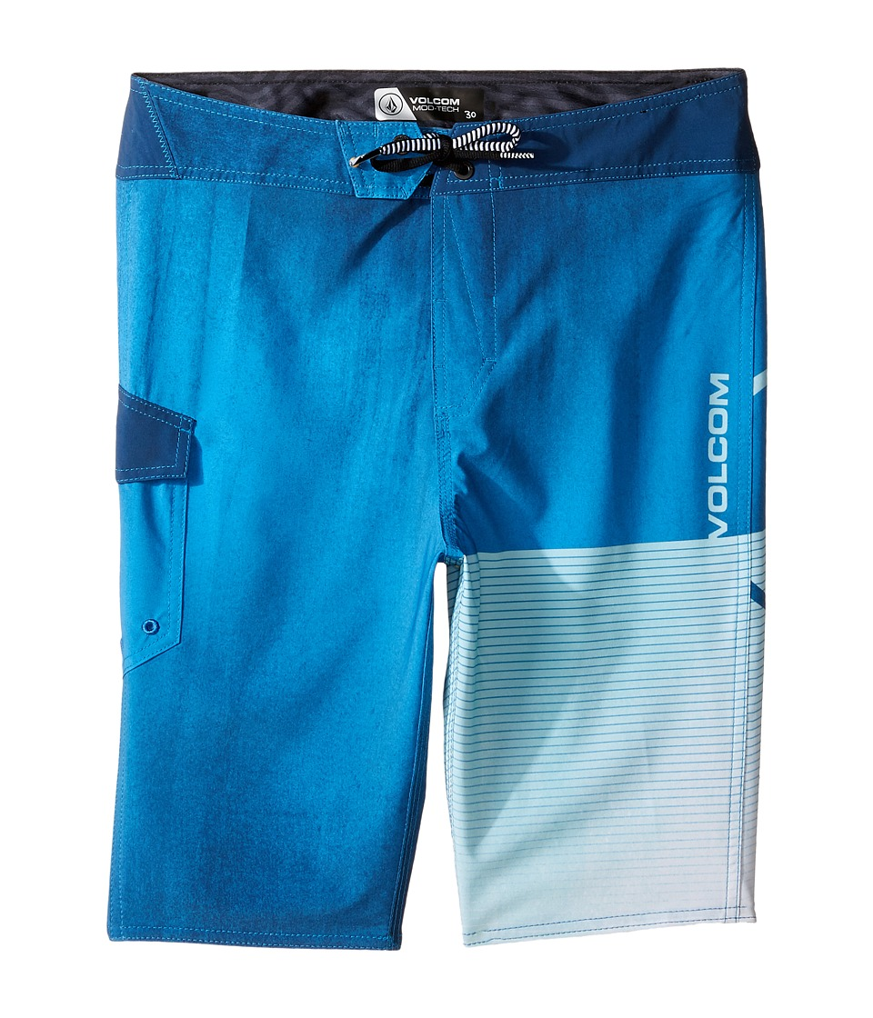 Volcom Kids - Costa Logo Mod Boardshorts (Big Kids) (Deep Water) Boy's Swimwear