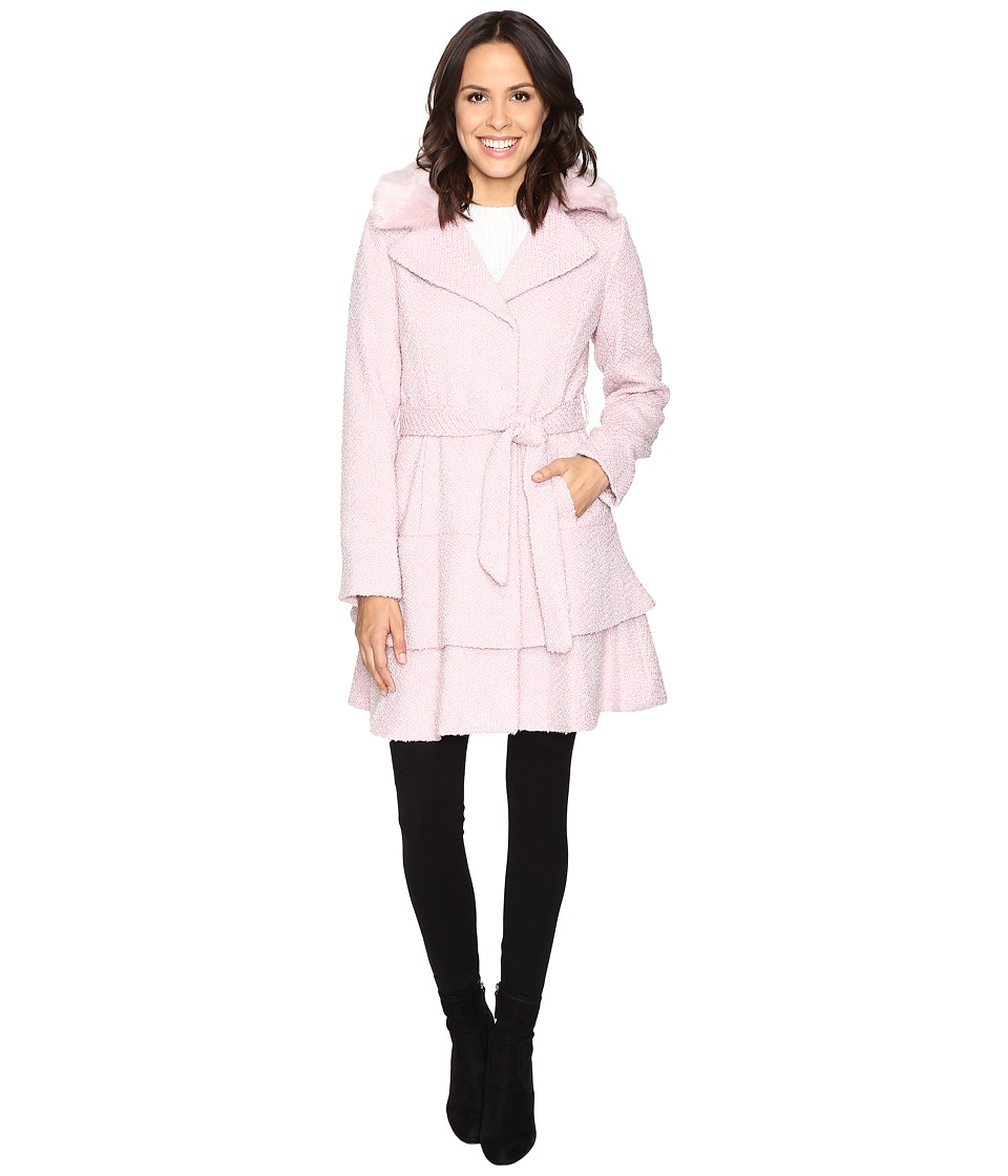 Betsey Johnson - Belted Wool Coat (Powder Puff) Women's Coat