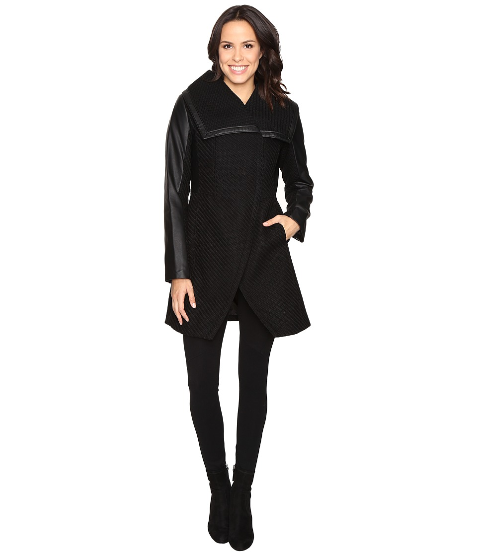 Betsey Johnson - Minimalist Coat (Black) Women's Coat
