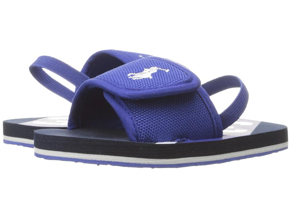Polo Ralph Lauren Kids - Perri Slide (Toddler) (Royal Nylon/White PP/Navy) Kid's Shoes