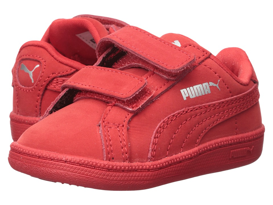 Puma Kids - Smash Nubuck V (Toddler) (High Risk Red) Kids Shoes