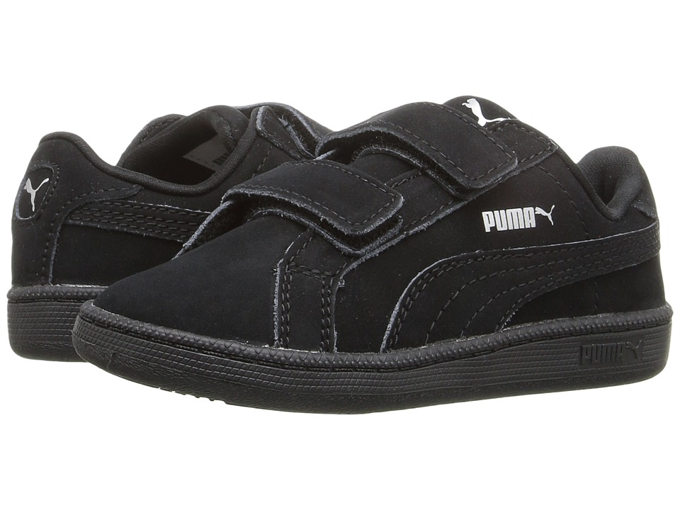 Puma Kids - Smash Nubuck V (Toddler) (PUMA Black) Kids Shoes