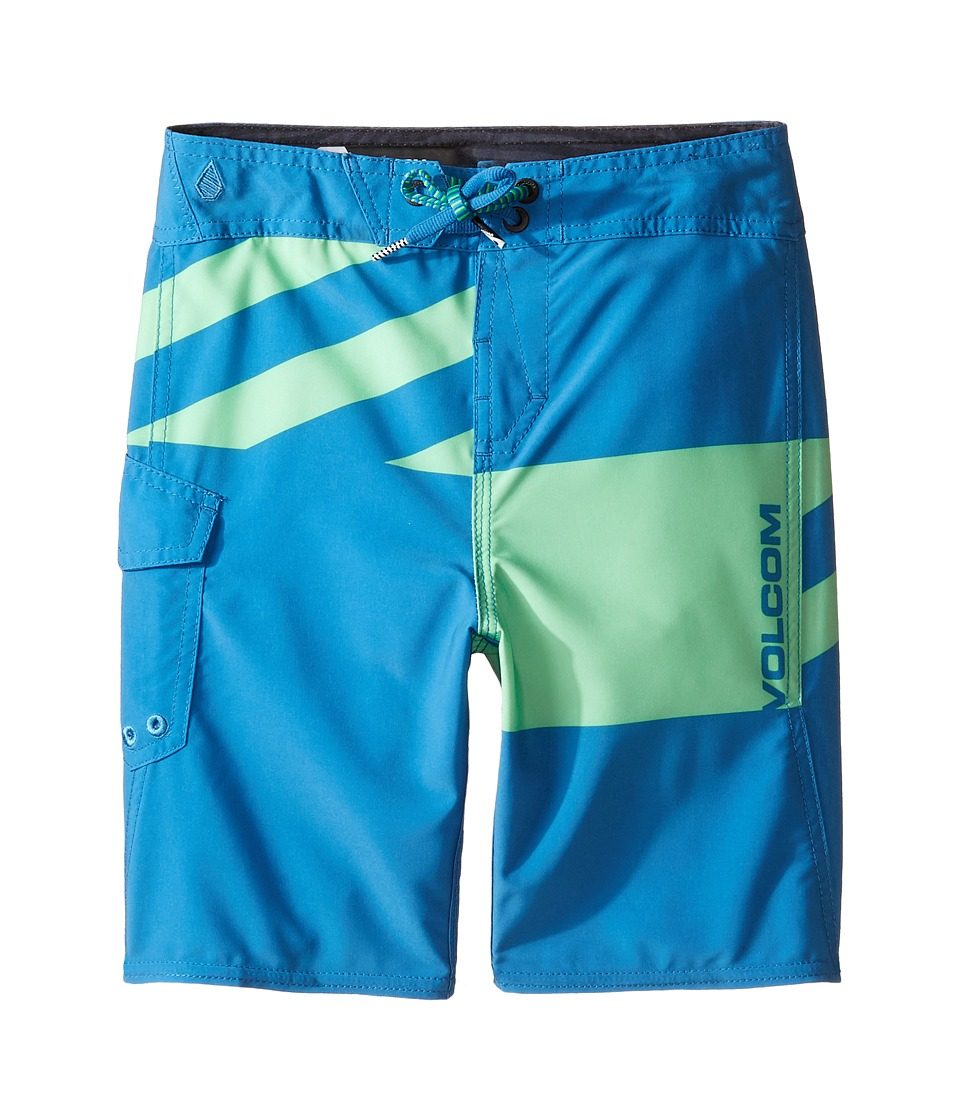 Volcom Kids - Logo Party Pack Mod Boardshorts (Toddler/Little Kids) (Poison Green) Boy's Swimwear