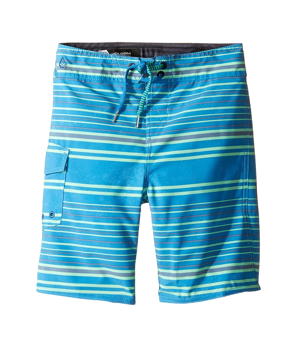 Volcom Kids - Magnetic Liney Mod Boardshorts (Toddler/Little Kids) (Deep Water) Boy's Swimwear