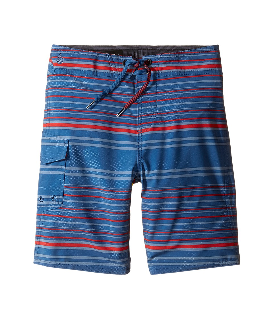 Volcom Kids - Magnetic Liney Mod Boardshorts (Toddler/Little Kids) (Smokey Blue) Boy's Swimwear