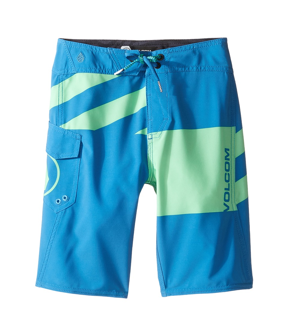 Volcom Kids - Logo Party Pack Mod Boardshorts (Big Kids) (Poison Green) Boy's Swimwear