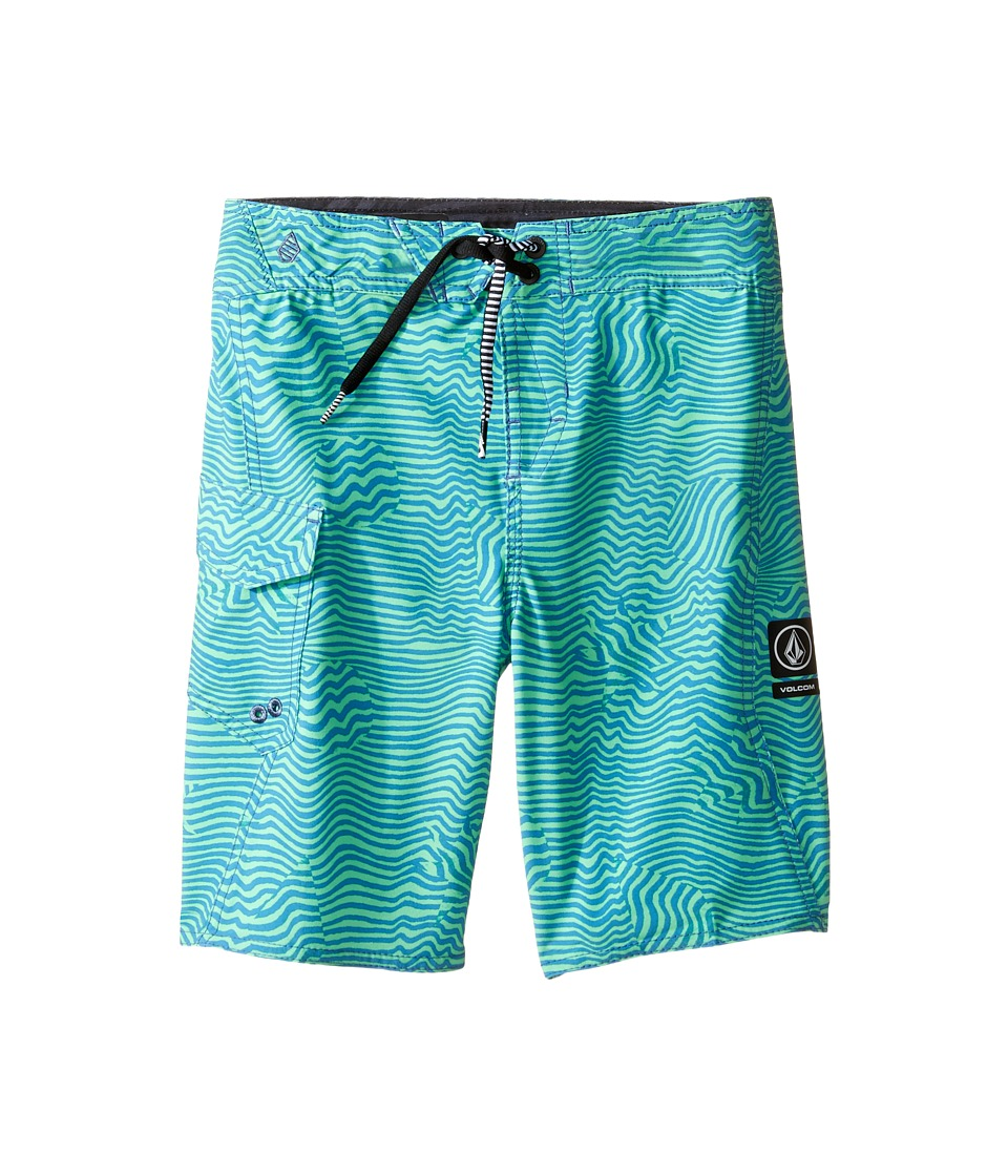 Volcom Kids - Magnetic Stone Mod Boardshorts (Toddler/Little Kids) (Poison Green) Boy's Swimwear