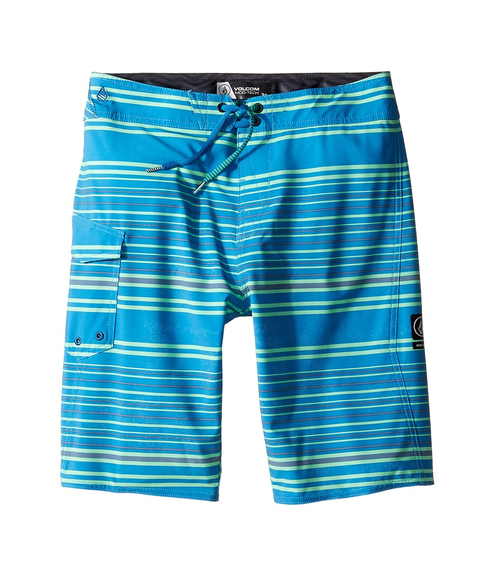 Volcom Kids - Magnetic Liney Mod Boardshorts (Big Kids) (Deep Water) Boy's Swimwear