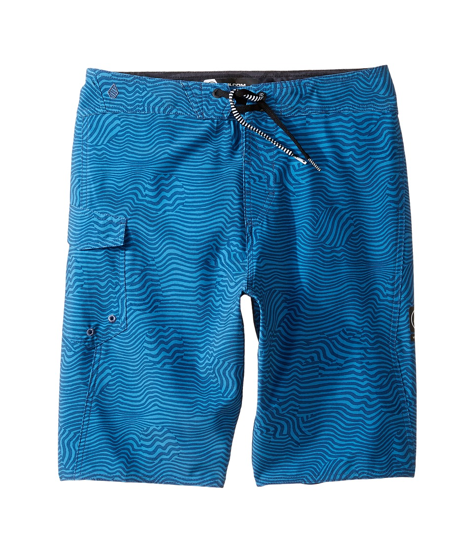 Volcom Kids - Magnetic Stone Mod Boardshorts (Big Kids) (Deep Water) Boy's Swimwear