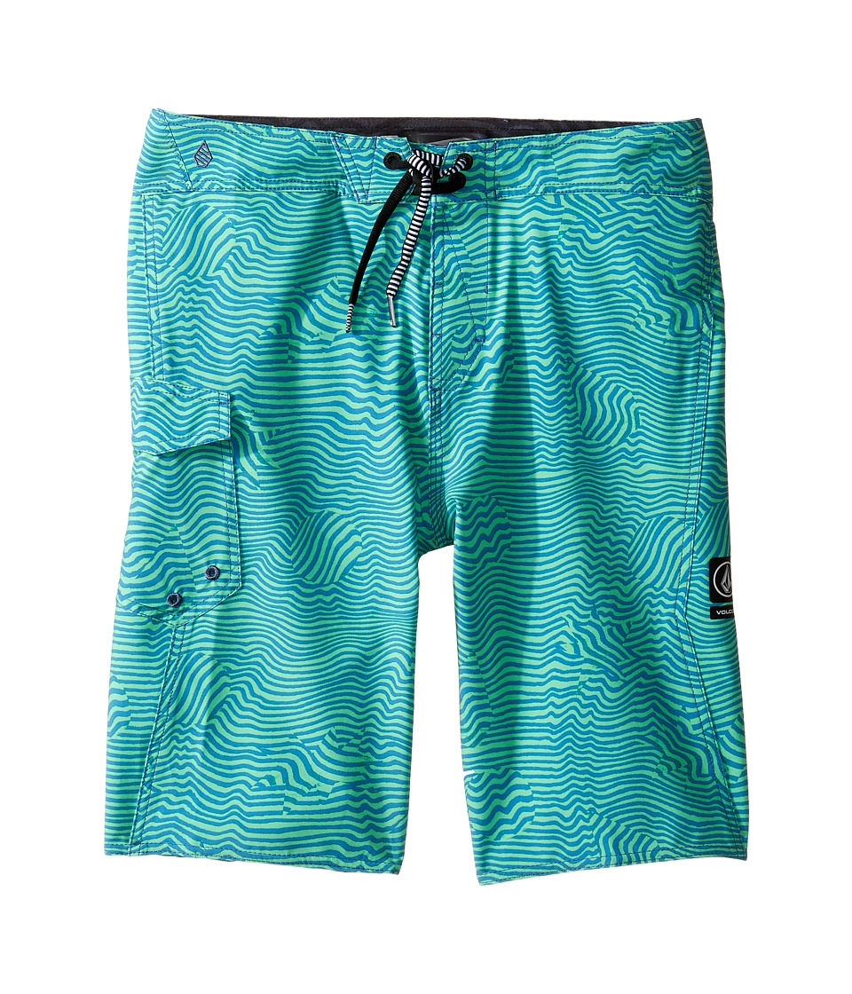 Volcom Kids - Magnetic Stone Mod Boardshorts (Big Kids) (Poison Green) Boy's Swimwear