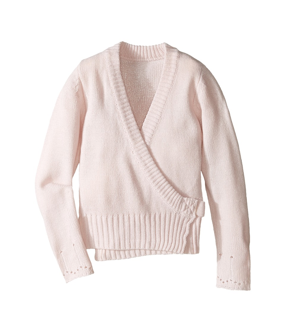 Capezio Kids - Long Sleeve Wrap Sweater (Toddler/Little Kids/Big Kids) (Pink) Girl's Sweater
