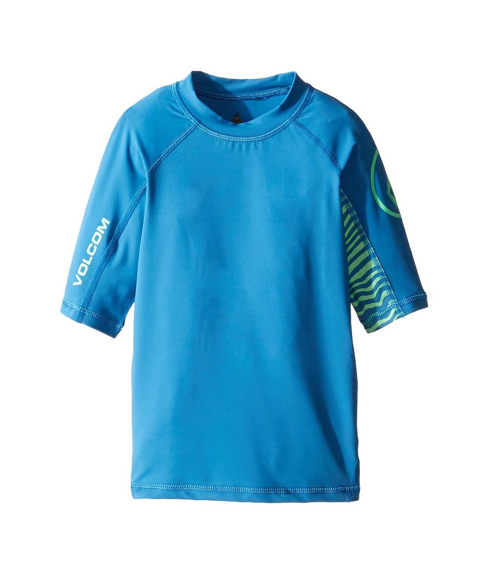Volcom Kids Vibes Short Sleeve Thrashguard (Toddler/Little Kids) (Deep Water) Boy
