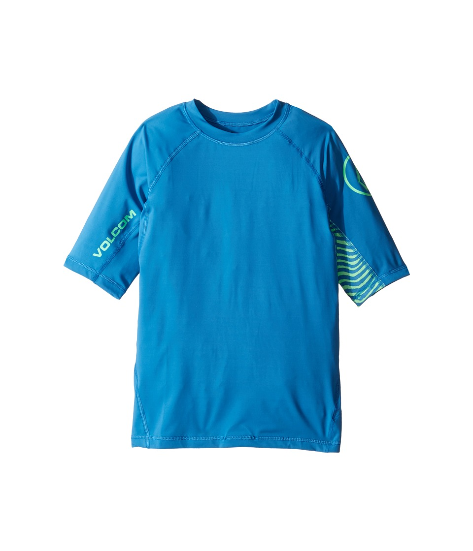 Volcom Kids Vibes Short Sleeve Thrashguard (Big Kids) (Deep Water) Boy