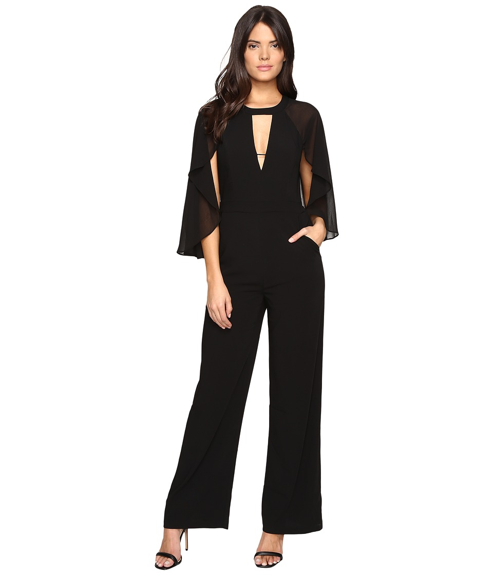 Adelyn Rae - Jumpsuit with Cape (Black) Women's Jumpsuit & Rompers One Piece