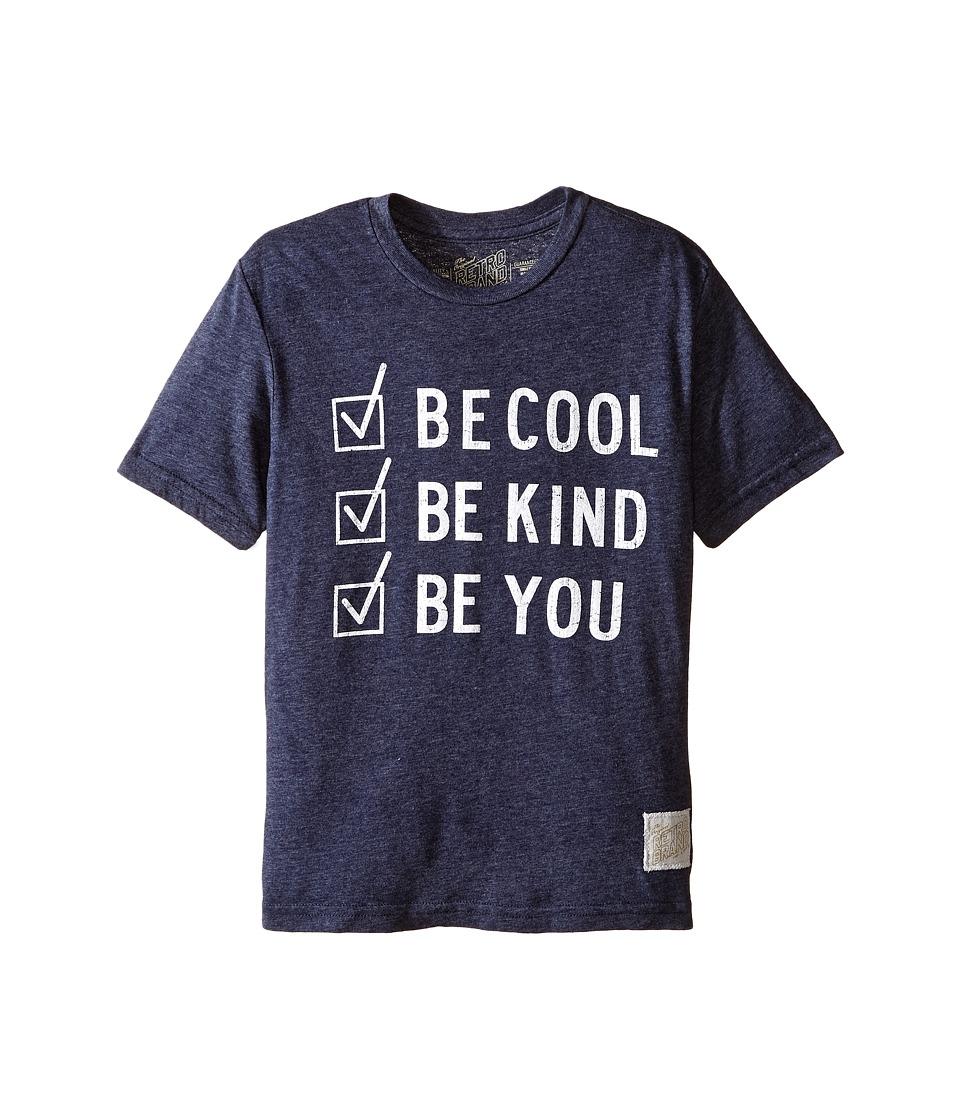 The Original Retro Brand Kids Be Cool Be Kind Be You Tri-Blend Short Sleeve Tee (Big Kids) (Streaky Navy) Boy's T Shirt