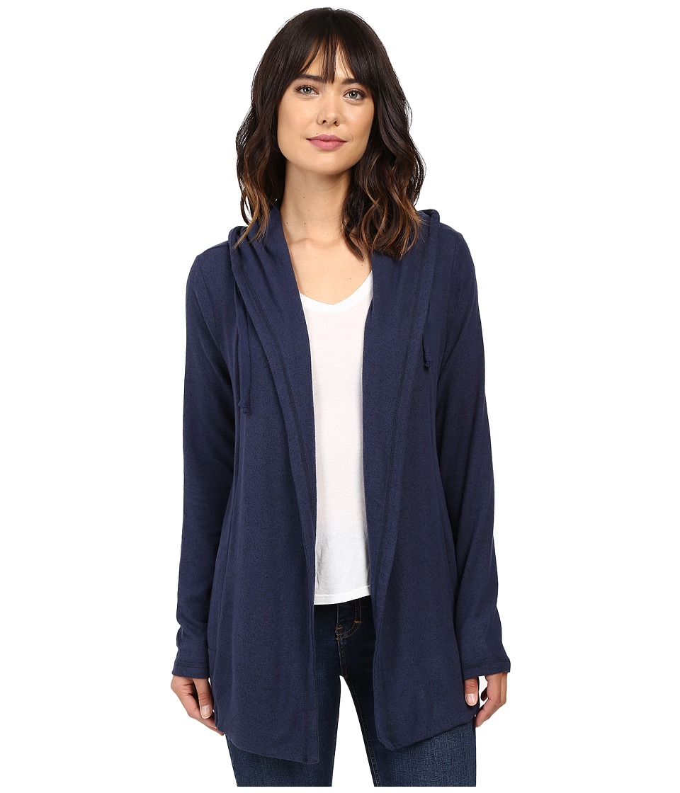 Culture Phit - Halle Hoodie Cardigan with Drawstring (Navy) Women's Sweater