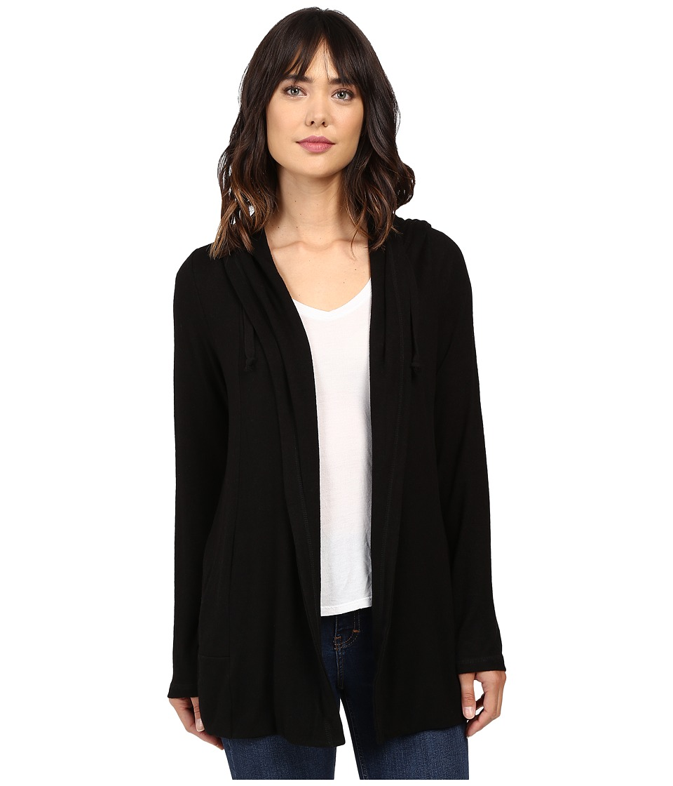 Culture Phit - Halle Hoodie Cardigan with Drawstring (Black) Women's Sweater