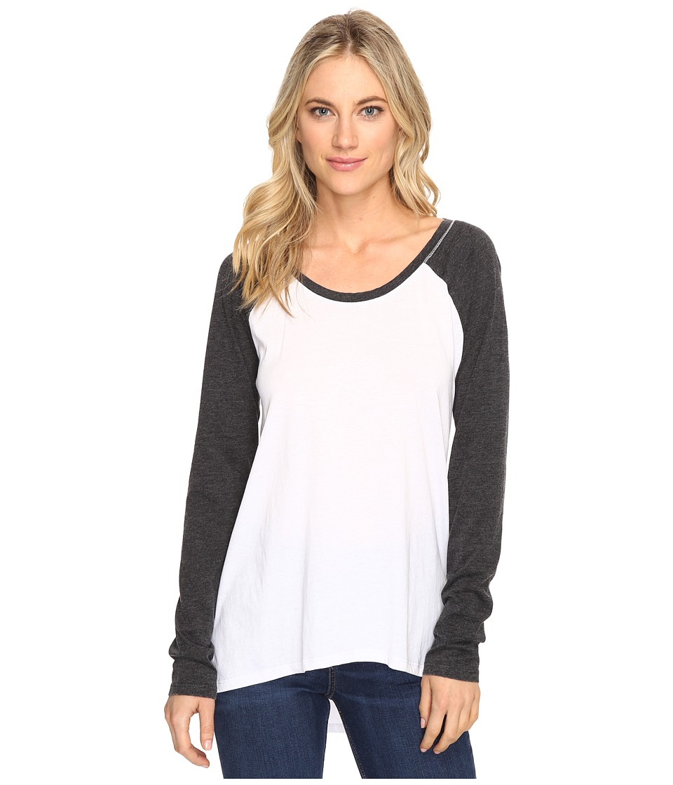 Culture Phit - Linnea Long Sleeve Baseball Tee (White) Women's T Shirt
