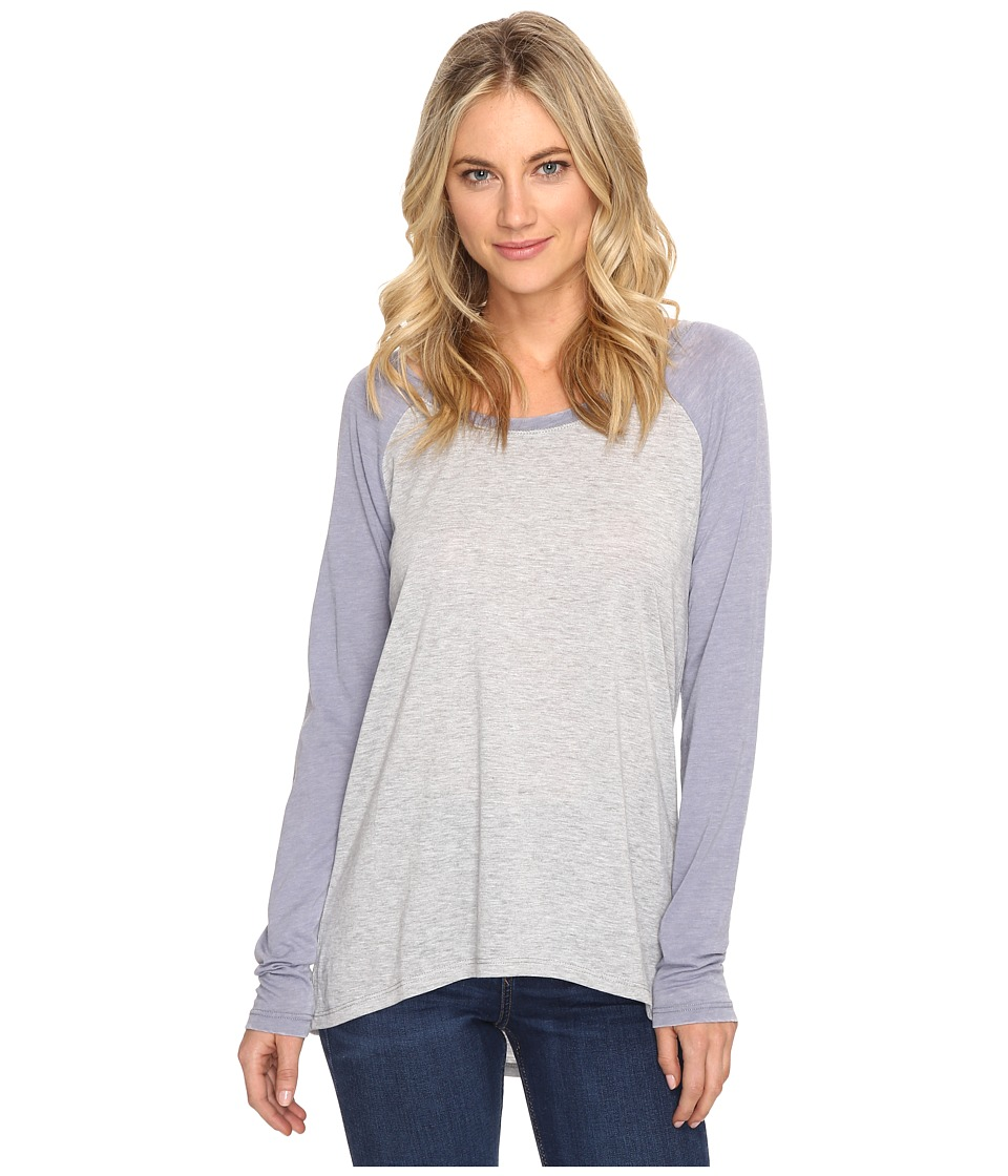 Culture Phit - Linnea Long Sleeve Baseball Tee (Heather Grey) Women's T Shirt