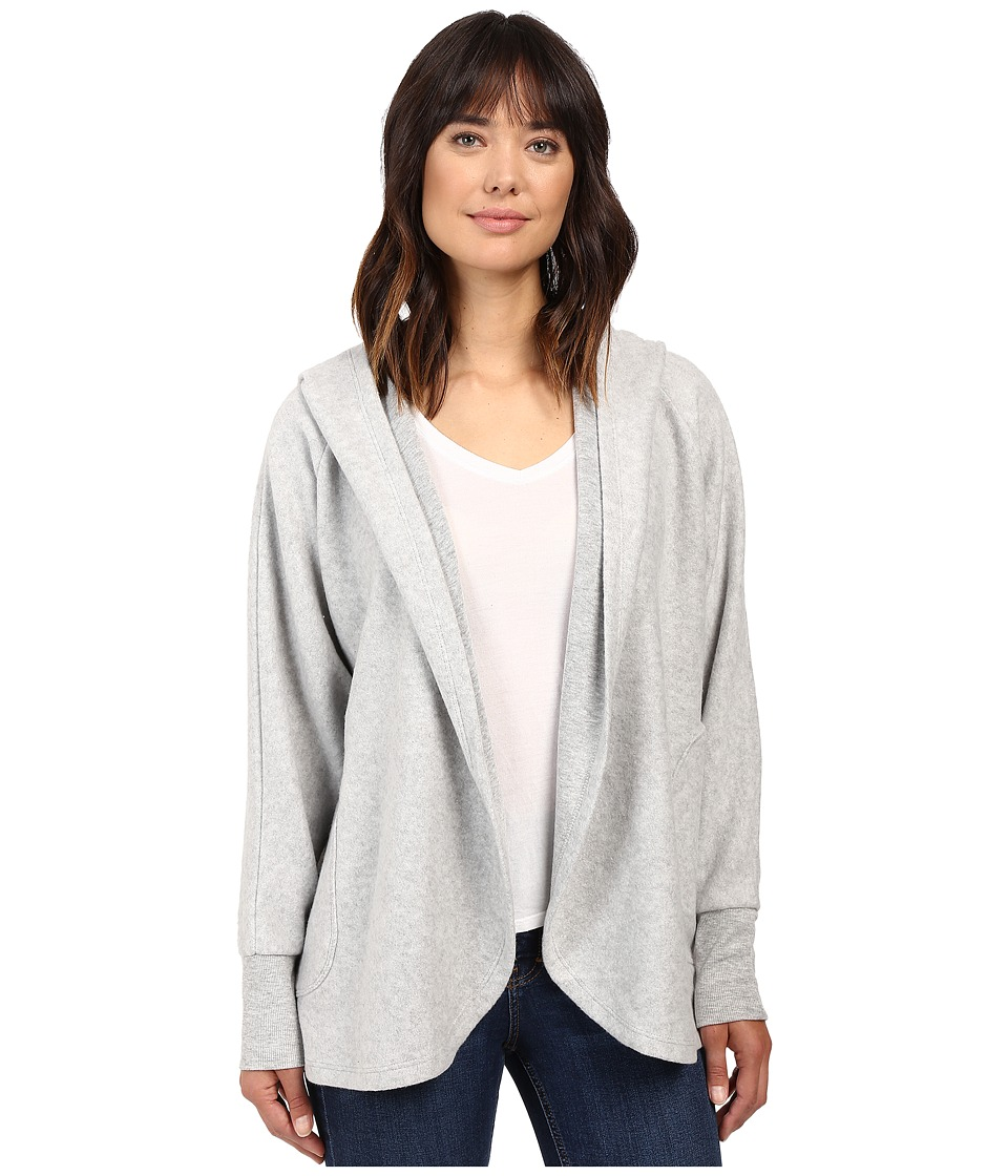 Culture Phit - Laurel Oversized Hoodie Cardigan (Silver) Women's Sweater